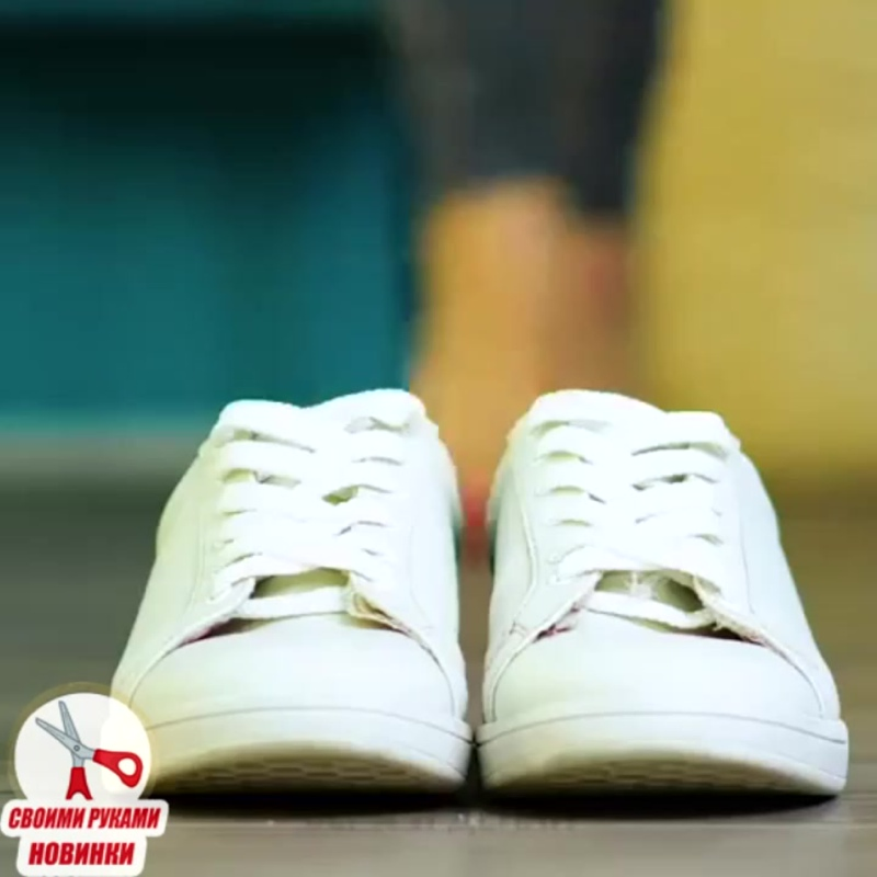 чистим белую обувь