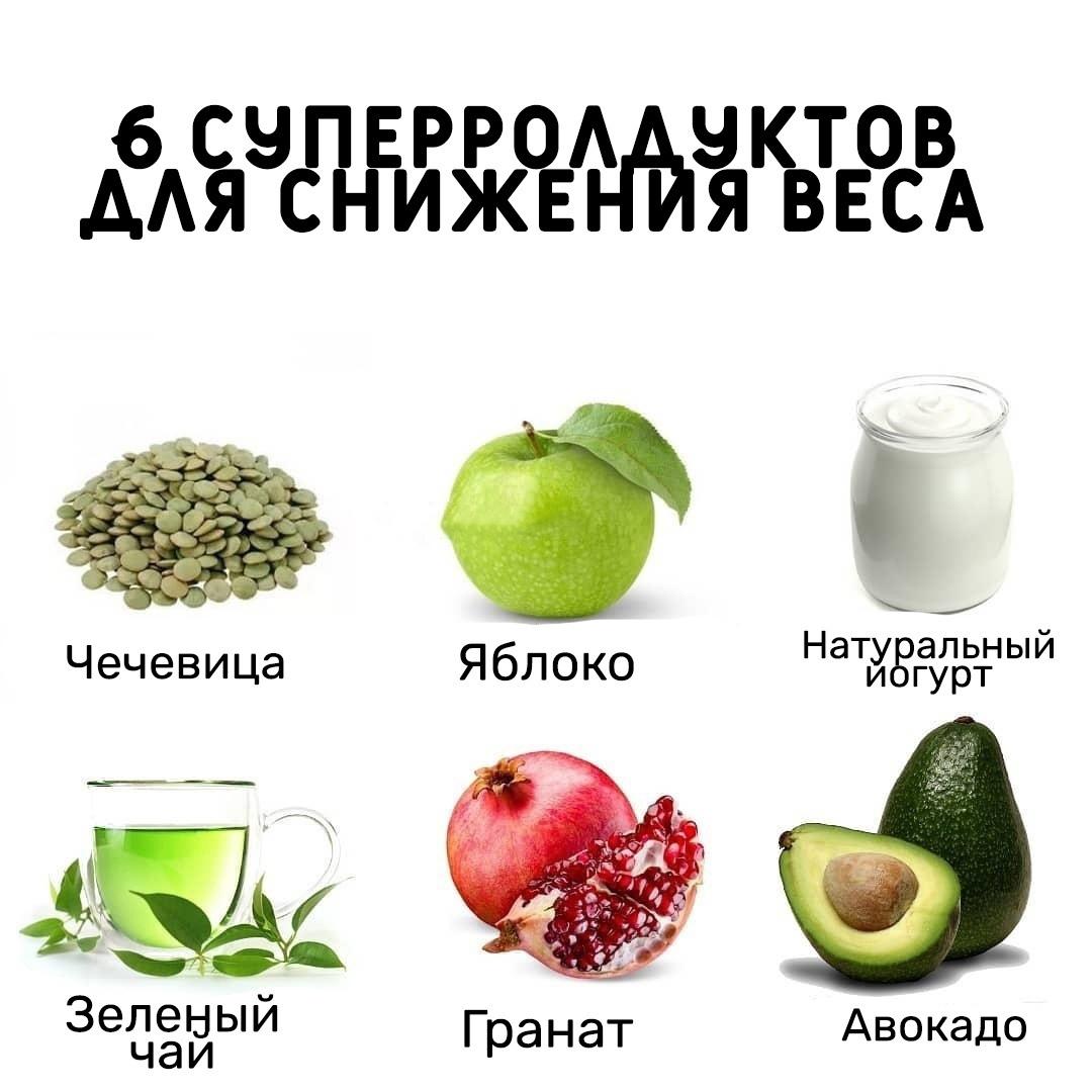 Суперпродукты, которые не только вас насытят, но ип могут сбросить лишний вес